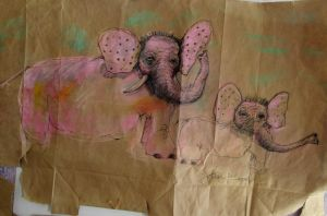 Elephants recycled in Wallmart by DVanDyk