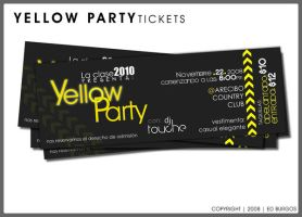 Yellow party tickets by Hleix