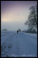 Walk alone in the snow by simoner