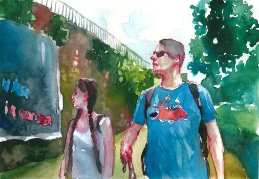 Tourists III (+ Speed painting video) by Kamlot-ART