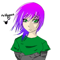 Purple and Green by Hayxen