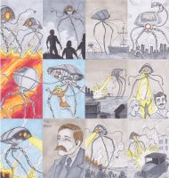 War Of The Worlds Sketch Cards CULT STUFF 2013 by phymns
