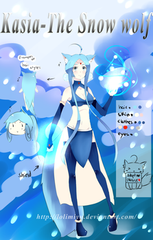 .:ADOPTABLE-Kasia The Snow Wolf+FREE Sketchesclose by LoliMiyu
