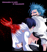 Grimmjow vs Luppi by HollowCN