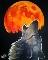 Blood Moon Wolf by ZomBieTOmmm