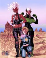 X-Women in the Australian Outback by RonAckins
