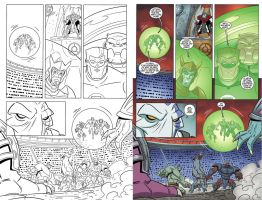 Green Lantern animated  book 5 page 14 inks-color by DarioBrizuelaArtwork