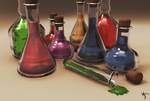 lots of potions! by droid-4