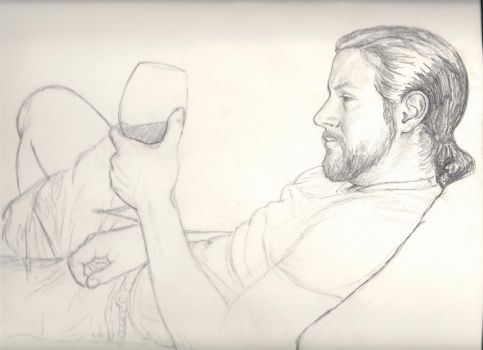 andy with wine wip by hollycarden