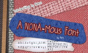 A NONA-mous Font by arlihama