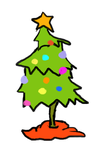 Christmas Tree MS Paint by petermarge