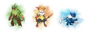 Kalos Starter Evos - speculation by ForiegnBacon