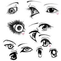 Eye Sketches by InvaderVal