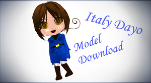 [MMD Newcommer] Italy Dayo [Model DL] by FBandCC