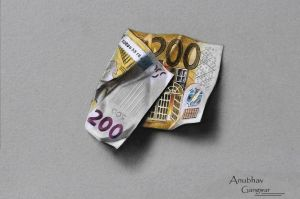 200 Euro Drawing by Anubhavg