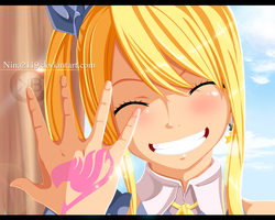 Lucy Smile Fairy tail 425 by nina2119