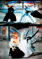 Ichigo bankai vs Hollow Ichigo Soul Calibur 5 by PlAbOnDRAGON