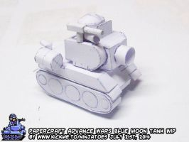 Advance Wars Blue Moon Tank WIP 2b by ninjatoespapercraft