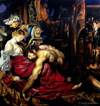 Exhibition Painting - Samson + Delilah Replication by ScenicSarah