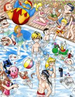 Pool Party Full colored by Dlie