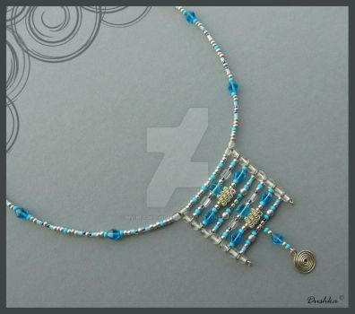 No.048a Blue ladders by My-beaded-wonders