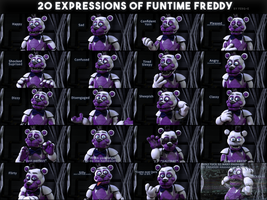 20 Expressions Of Funtime Freddy by Ferg-E