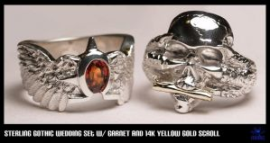 Sterling Gothic Wedding Set by Dans-Magic