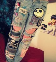 the neverending patchwork jeans by dreamylittlethings