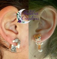 Cute Kittens Earrings by Nakihra