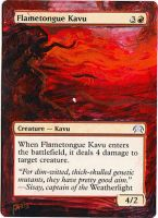 Magic Card Alteration: Flametongue Kavu by Ondal-the-Fool
