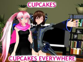 CUPCAKES CUP CAKES EVERYWHERE!! by VocaloidBrit