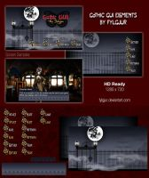 Gothic GUI Image Pack for Ren'Py by Fylgjur
