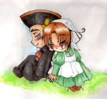 APH: Holy Rome and Chibitalia, Little Cuties by Merry-Muse