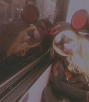 Harley Quinn's reflection by bloody-magpies