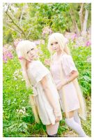 Chobits with flower by AsahiRimaTan