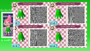 Green Cheer Dress by GumballQR