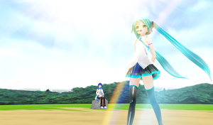 MMD - Miku Taking a Walk by 1KaitoShion