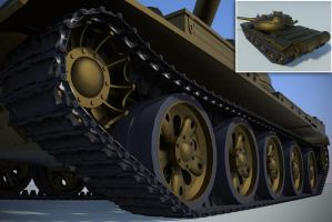 T-62 tank tracks by shareck