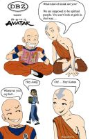 Krillin and Aang by HoneyDove