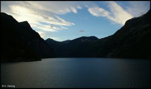 geirangerfjord in the morning by Mittelfranke