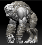 Early Elcor sculpt by goodfoot1971