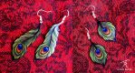 Peacock Deco Earrings by TrollGirl