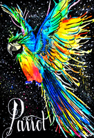 Parrot in the space by icbeth