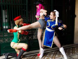 Street Fighter Team by FlorBcosplay