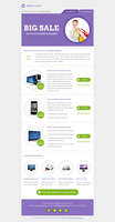 Email Template design PSD+HTML by smitexpert