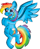 Dash of Rainbow by somekindahatebreeder