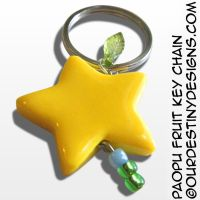 Paopu Fruit Key Chain by OurDestinyDesigns