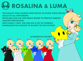 Smash Bros. Profile: Rosalina and Luma by RafaelMartins