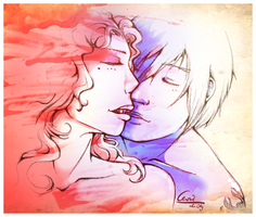 Kiss - Jess and Raik by cevier