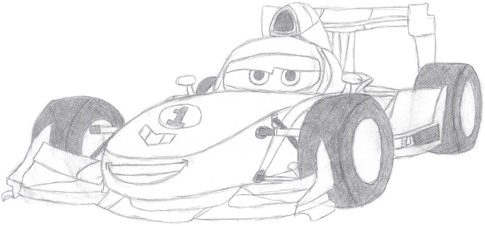 Cars: Francesco Sketch by Bowser-The-Second